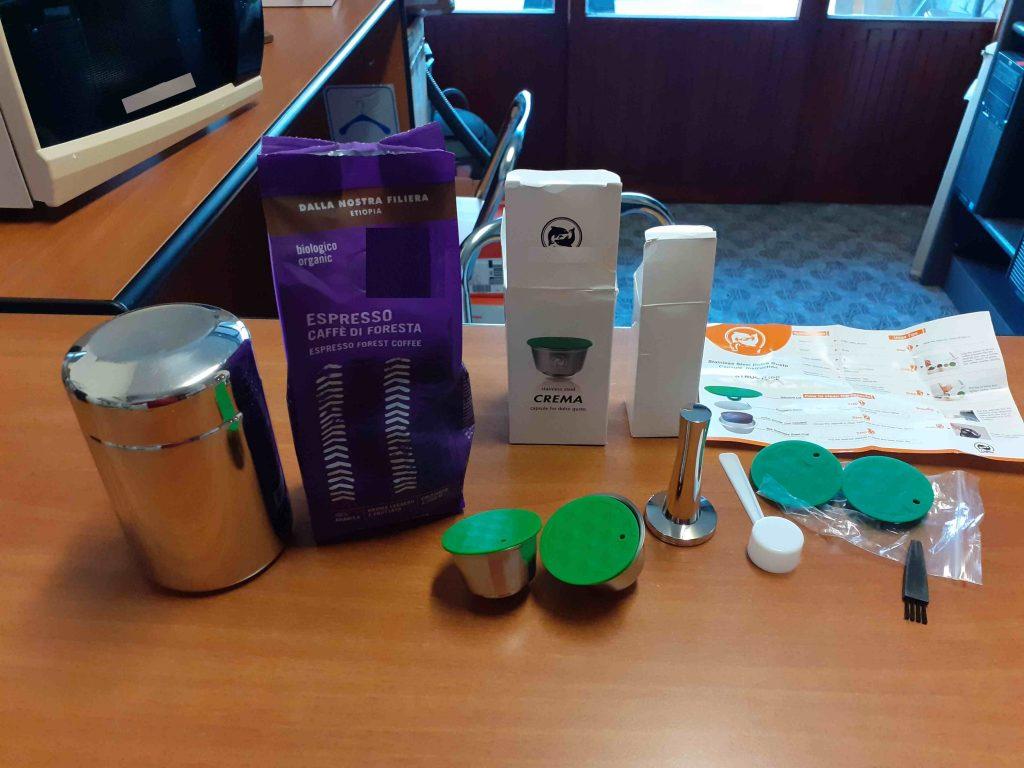 green capsule caffè